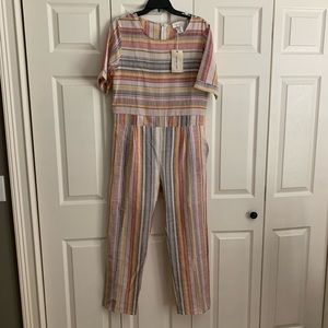 Summery Striped Jumpsuit